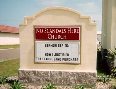 No scandals here church